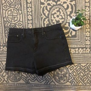 NWT Madewell Black High Waisted Shorts